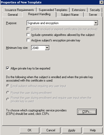 Kevin greene it blog using internal certificates with scom on now click on the csps box to open the csp selection window in the csp selection window select the cryptographic service provider that falls into line yadclub Choice Image