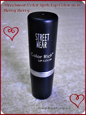Street Wear Color Rich Lip Color in shade 16 Berry Berry