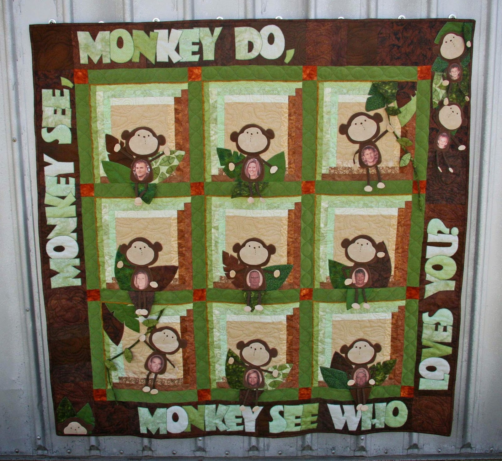 Quilting With Thistle Thicket Studio: September 2014 : monkey quilt pattern - Adamdwight.com