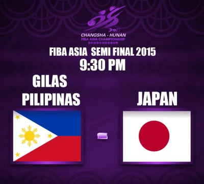 FIBA ASIA 2015 SEMI FINALS: GILAS PHILIPPINES vs JAPAN ...