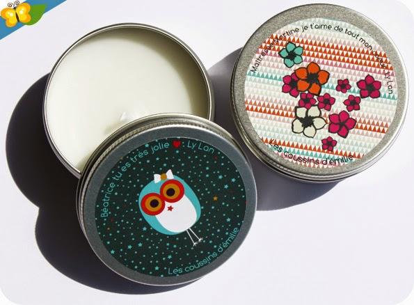 Bougies parfumées personnalisables - Les coussins d'Émilie