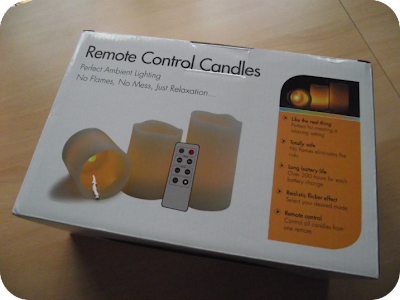 remote control candles box