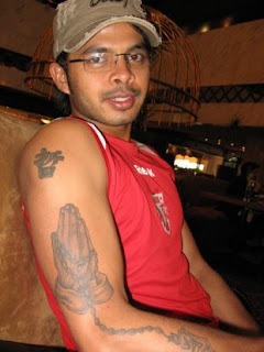 Indian Fast Bowler Sreesanth Tattoos