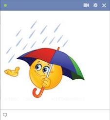 emoticon Facebook hujan