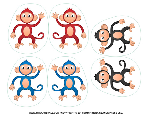 Monkey Craft for Kids Printable