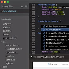 Adobe releases version v1.0 of Brackets, an open source text editor for Web designers