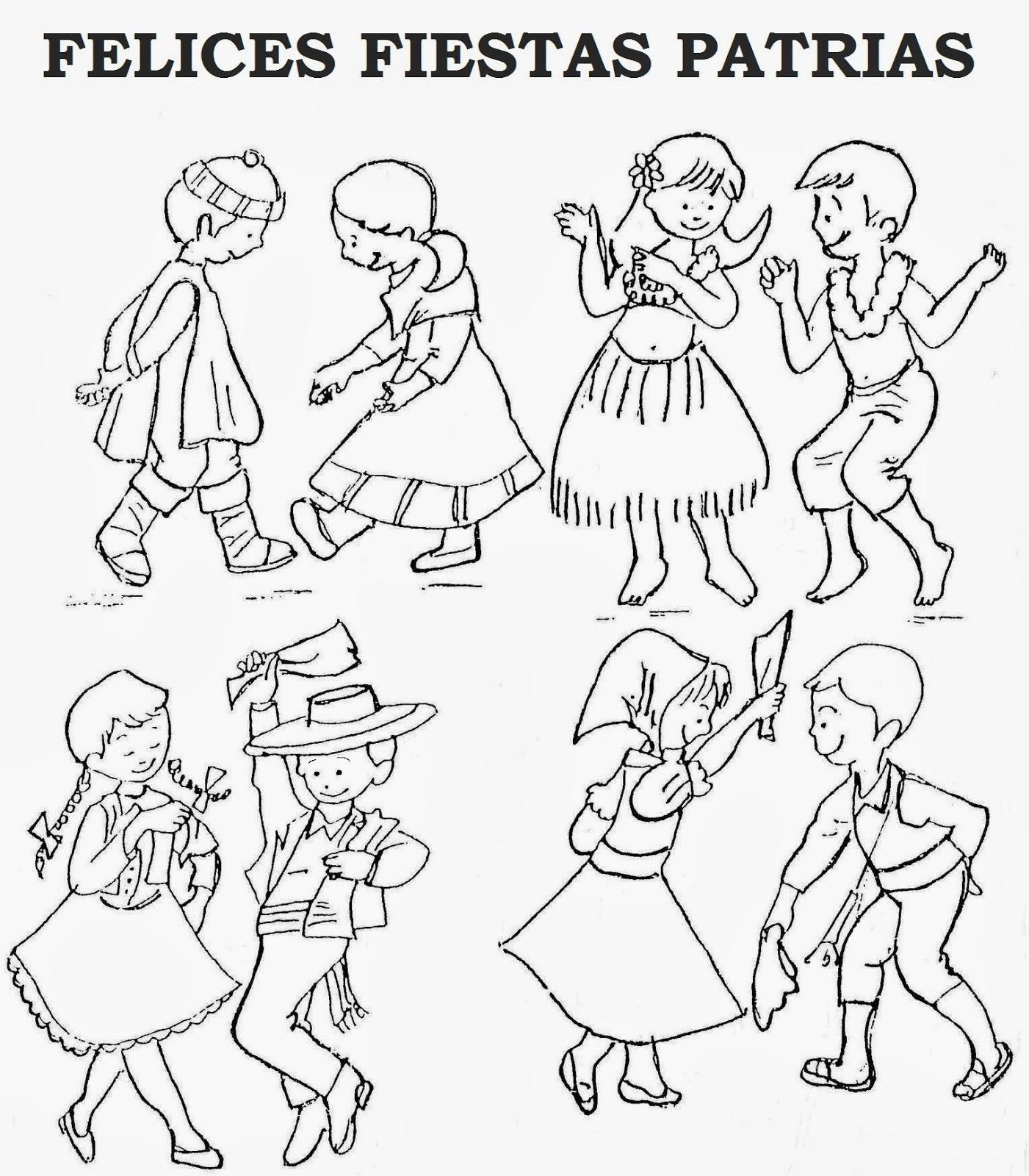 Fiestas patrias para Niños Perú ~ Dibujos para Niños