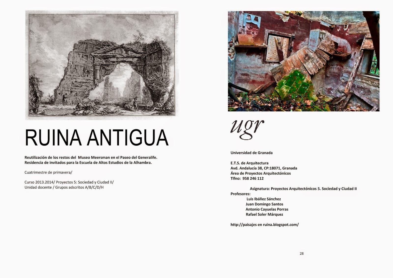 cuaderno Ruina Antigua