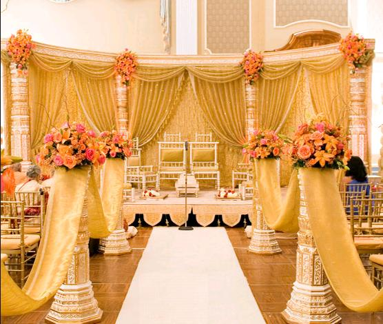 Fashion world latest fashion wedding stages decoration ideas for Home wedding reception decorations