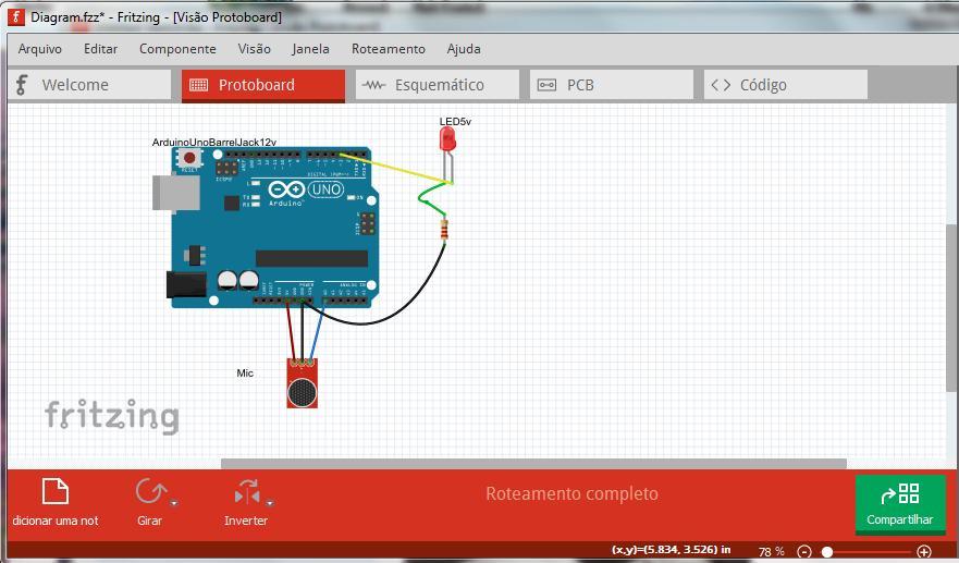 Circuito Io : Mecatrônica hoje projeto arduino em passos circuito