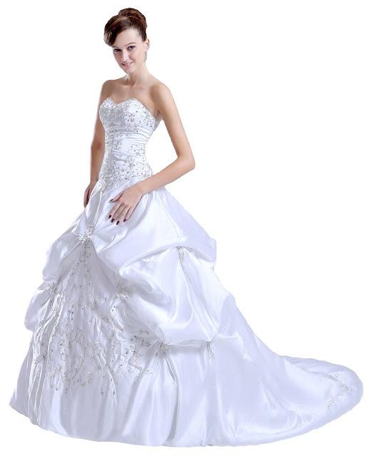 Faironly F62 Bretelles broderie satin nuptiale robe des femmes Robes de mariée