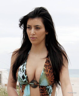 Sexiest American Model: Kim Kardashian's Seductive Body In Bikini