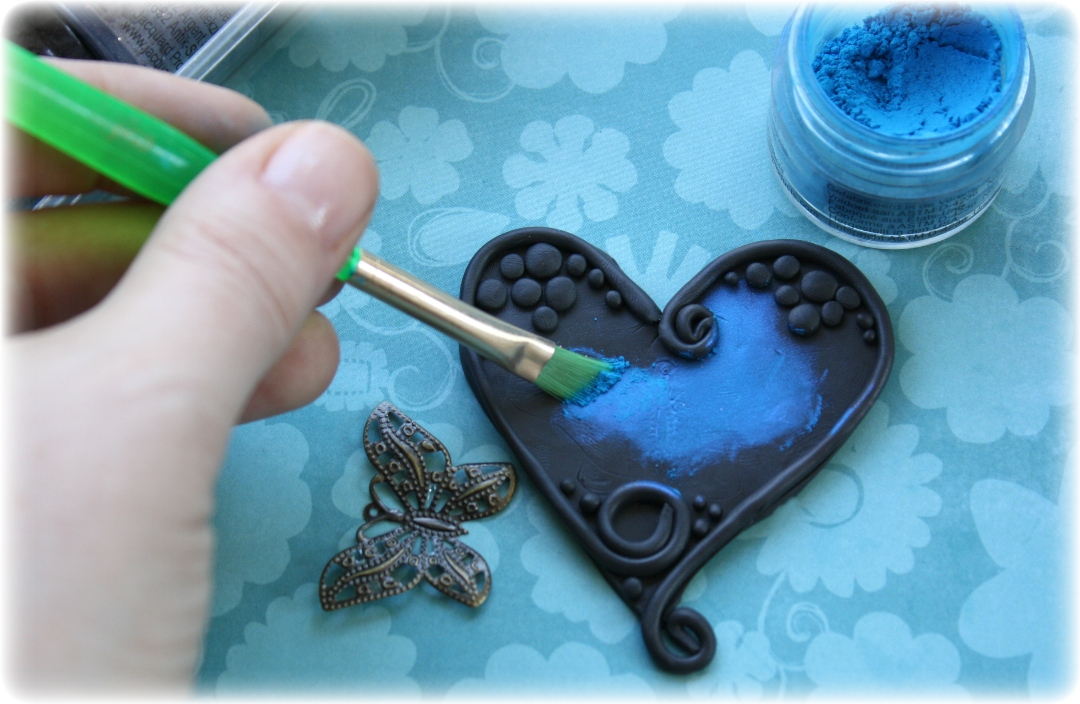 Such a pretty mess polymer clay trinket embellishment for Clay mural tutorial