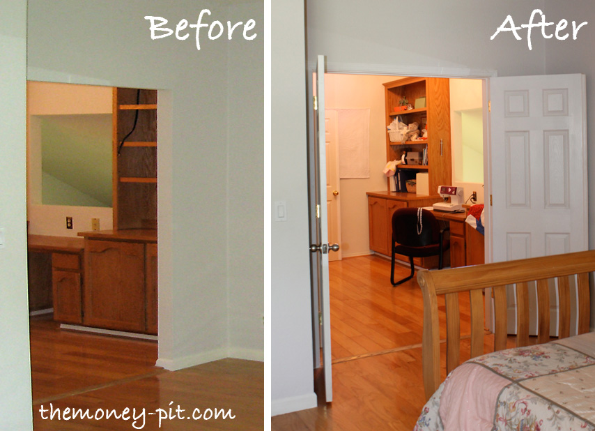 Adding Double Doors to the Master Bedroom - The Kim Six Fix