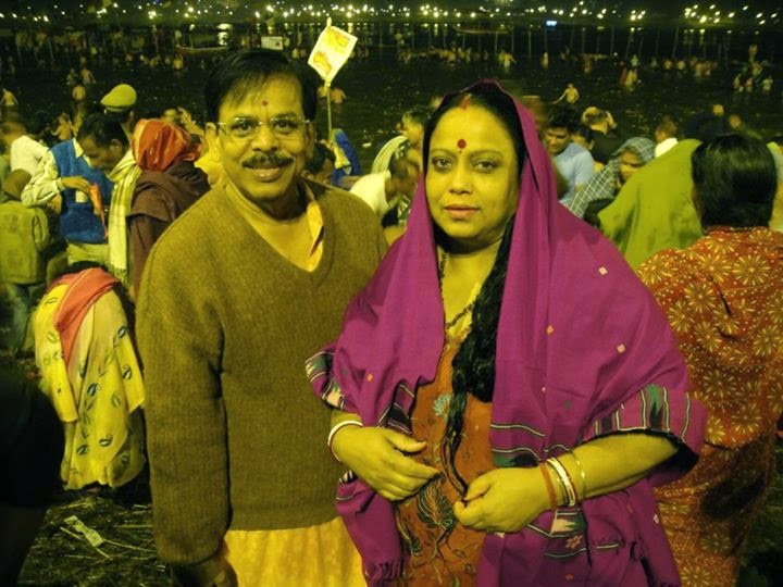My parents at the Kumbha Mela, Allahabad, May 2013