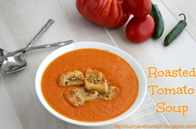 Kitchen Simmer: Roasted Tomato Soup with Garlic Toast Croutons