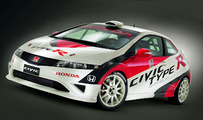 Honda Civic Type-R R3 Pepercraft Model