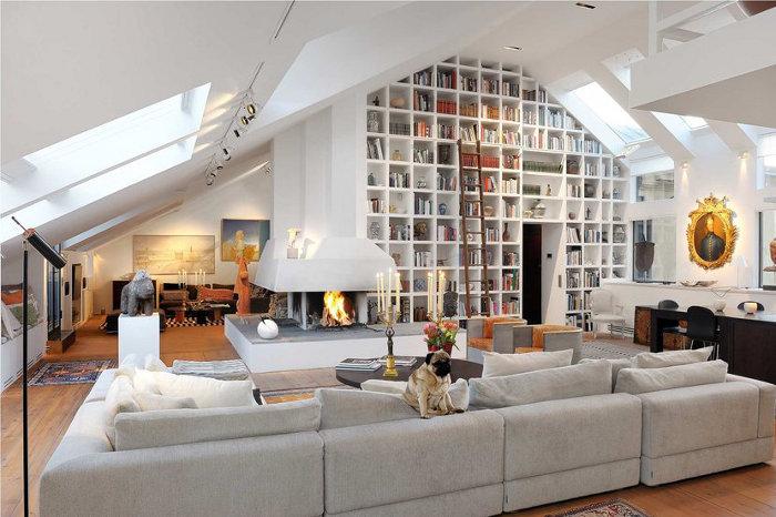 Whimsical world of laura bird bookshelves on steriods for Lighting for interior design book