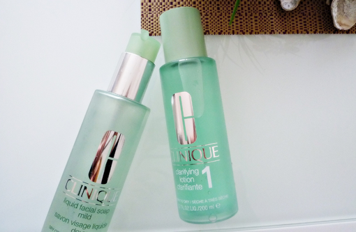 Clinique liquid facial soap und Clinique clarifying lotion