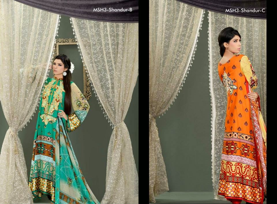 MashaalEmbroideredCollection2014VOL 03ByLalaTextile 13  - Mashaal Embroidered Collection 2014 VOL-3