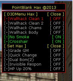 3 Point Blank Hile HaX Wallhack Süper Menü v17.03.2013 indir