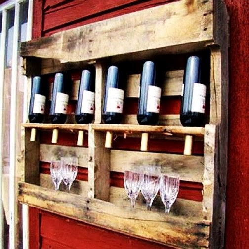 Pallet wine rack from Global Recycling