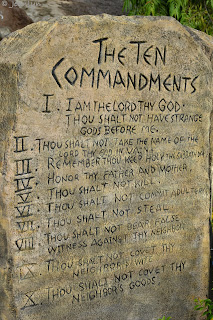 ten commandments tablet at Garin farm