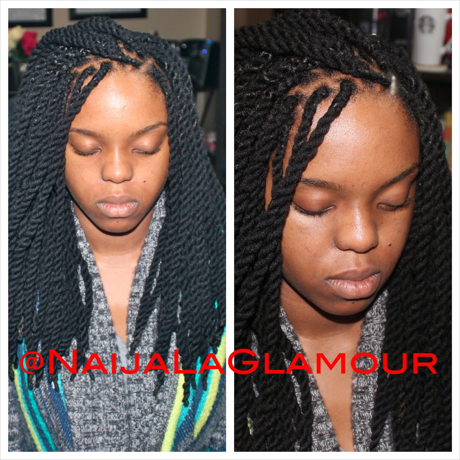 used 2 jumbo rolls of black acrylic yarn and I used 8 strands per ...