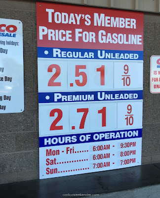 Costco gas for Nov 11, 2015 at Redwood City, CA