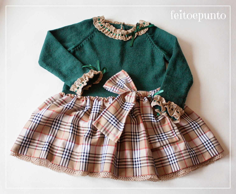 Hacer vestido de punto nina