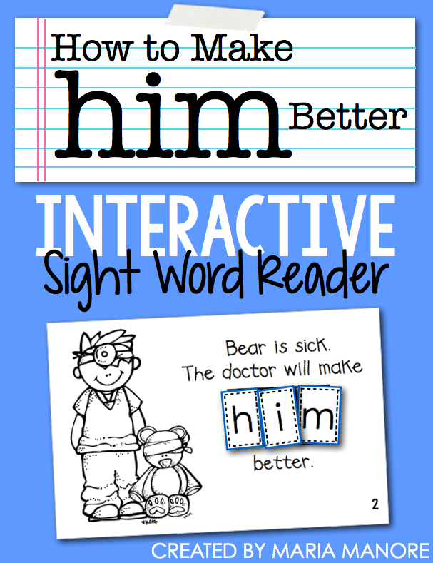 "emergent reader for sight word ""HIM"""