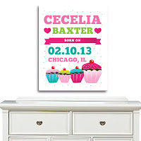 Psychobaby Sweet Stuff Birth Announcement Wall Art