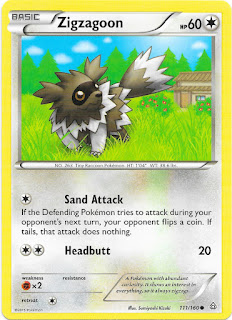 Zigzagoon Primal Clash Pokemon Card