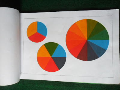 Gamabr Lingkaran Full Color hasil warna cat poster