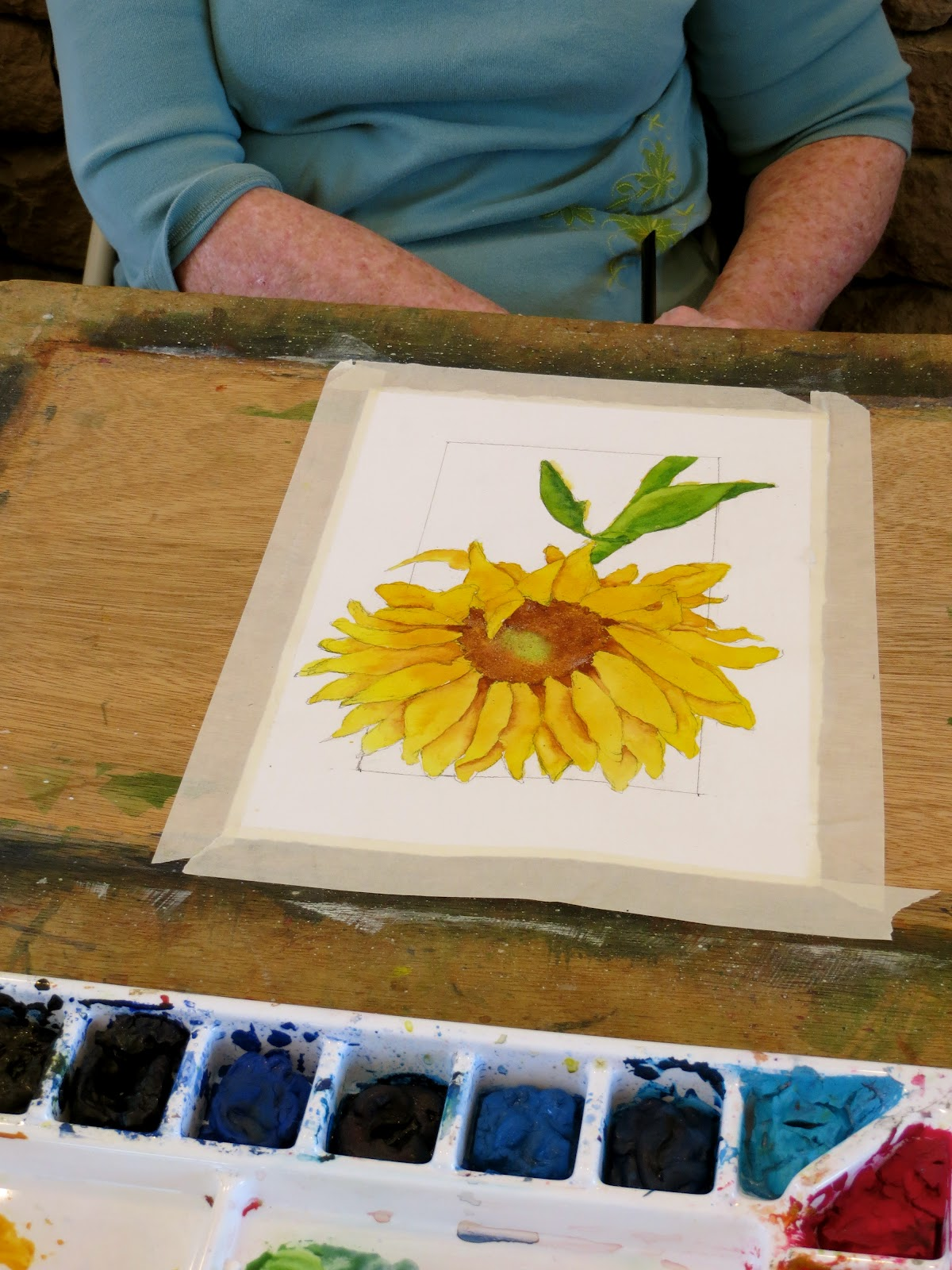 The Painted Prism Painting Sunflowers Behind The Scenes Of