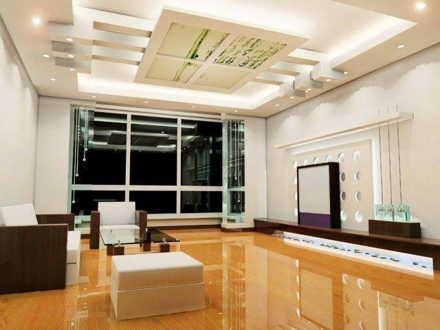 Modern False Ceiling Led Lights: Living Room Built In Ceiling Lighting