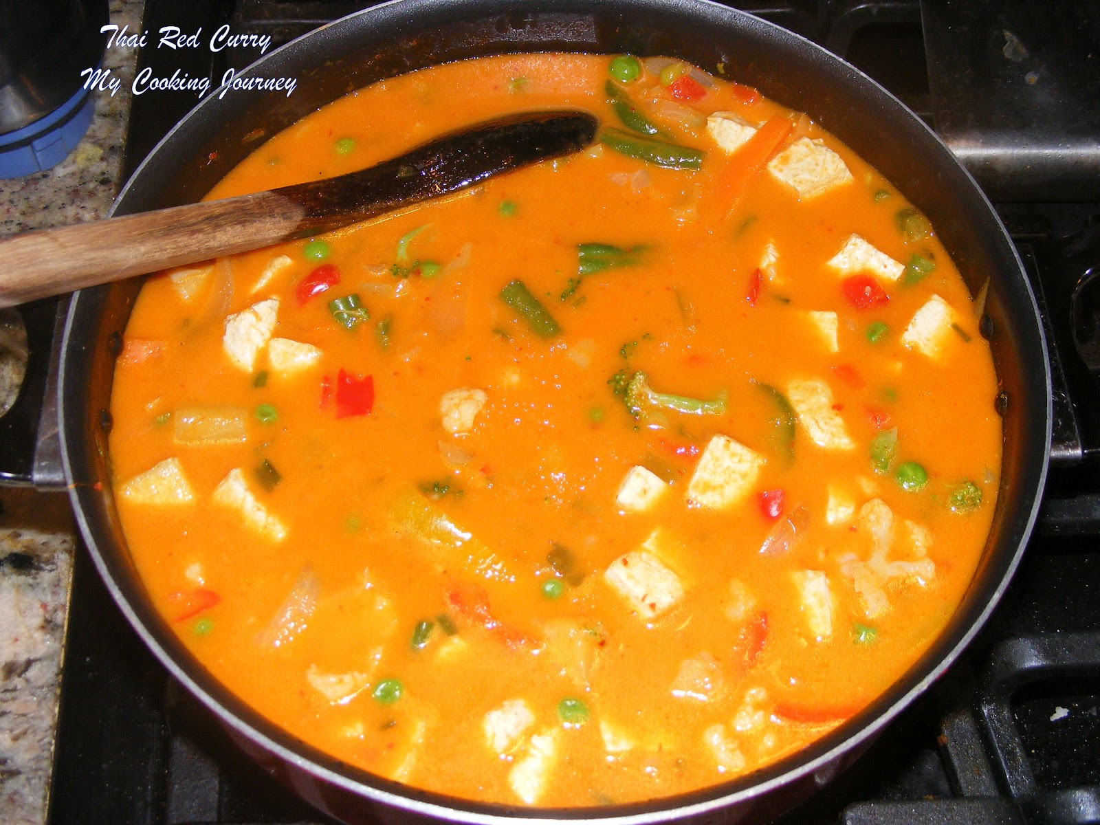 My Cooking Journey: Thai Vegetable and Tofu red Curry (Vegetarian)