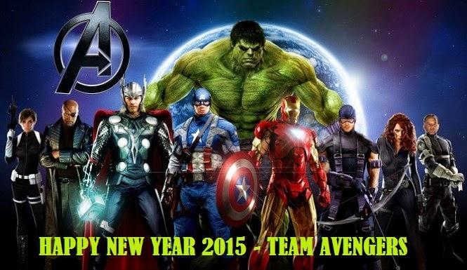 New year Avengers wallpaper for kids