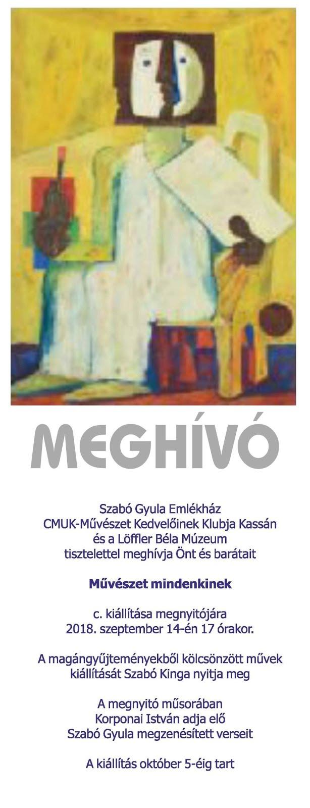 MŰVÉSZET MINDENKINEK c. kiállítás