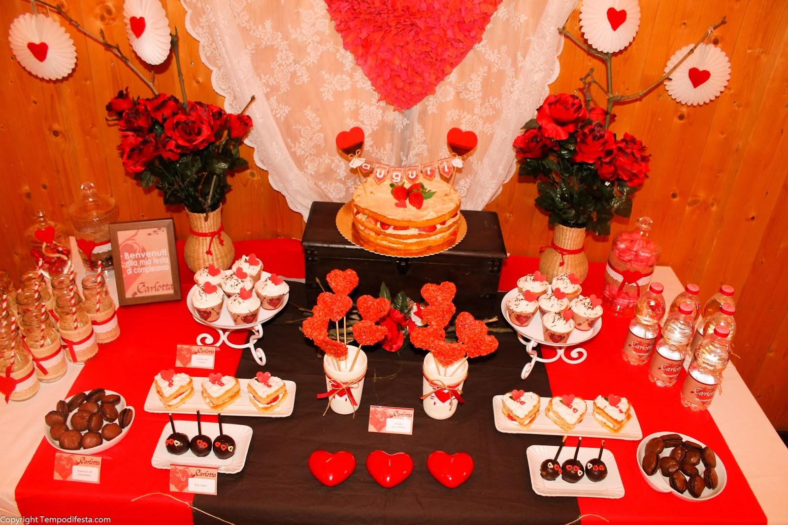 Festa di compleanno san valentino tempo di festa - Festoni compleanno fatti in casa ...