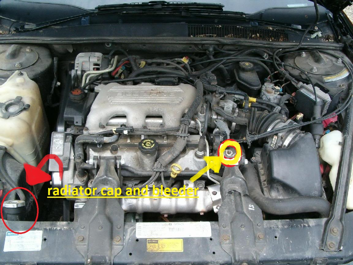 joe the auto guy bleeding the coolant system on a gm 3 1 or 3 4 revised rh joemakinmoney blogspot com 3.1L V6 Engine Diagram Ford 3.8 V6 Engine Diagram