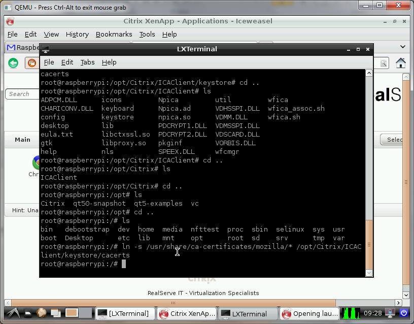 Raspberry Pi Thin Client Project Citrix Receiver Client Test On