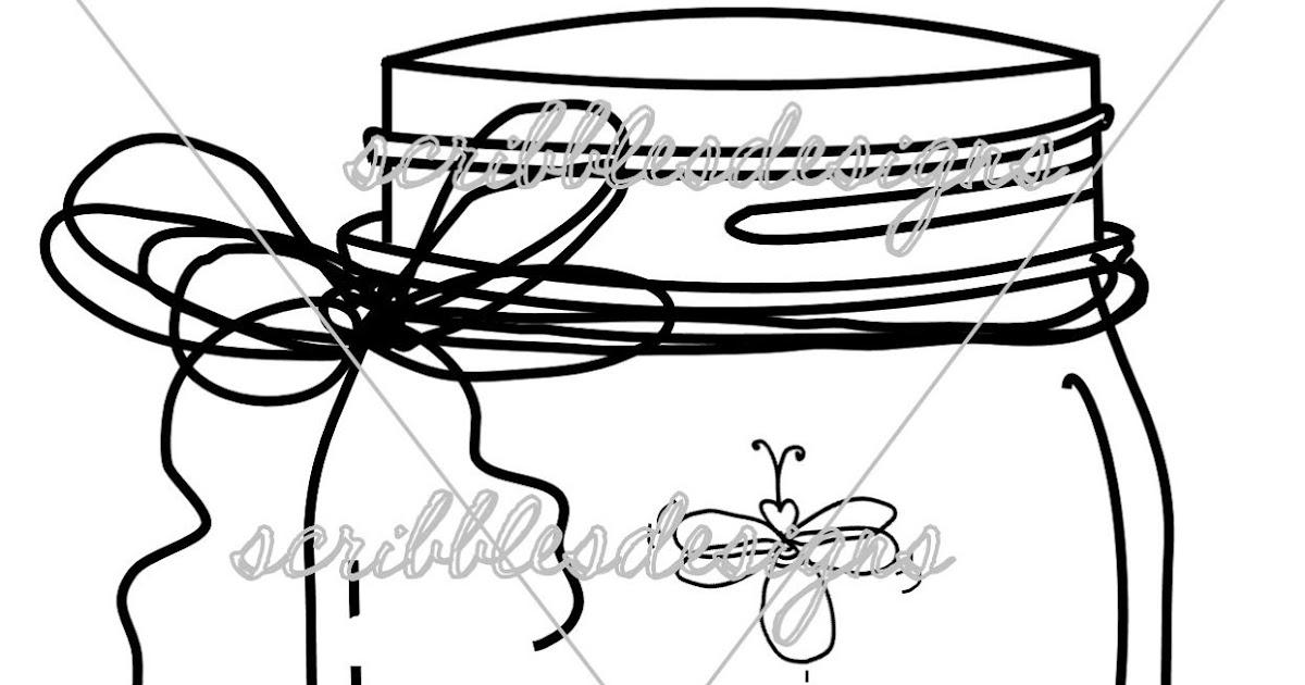 Scribbles Designs 8102 Firefly Mason Jar 300