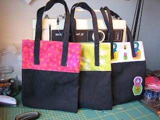 Photo of dark blue denim bags