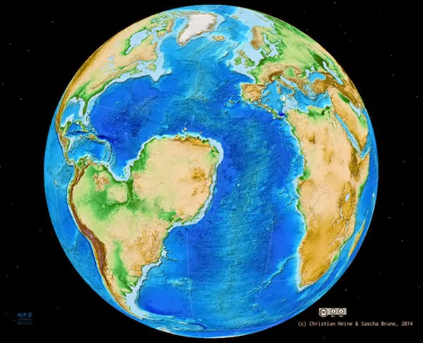Sahara Samudera Atlantik, Superbenua Gondwana