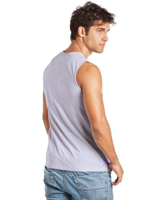 Moda masculina camiseta regata ótima para o verão