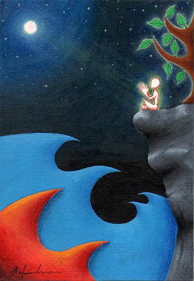 orme magiche dipinti preghiera pittura quadri disegno pittura spirituale arte zen