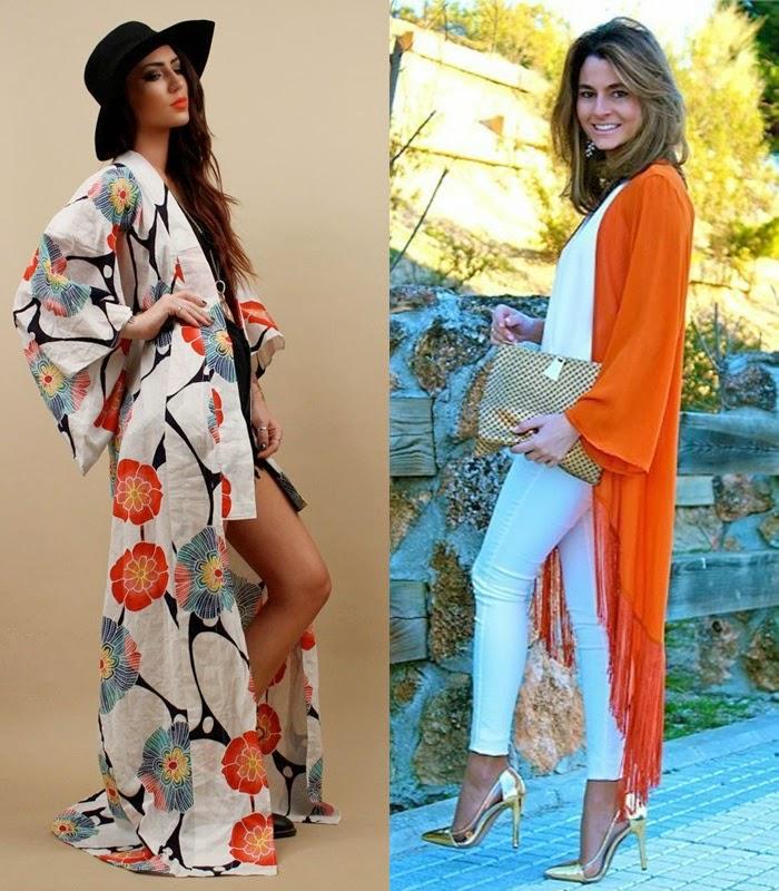 Quimonos ou Kimonos - Tendência primavera verão 2015 moda de rua