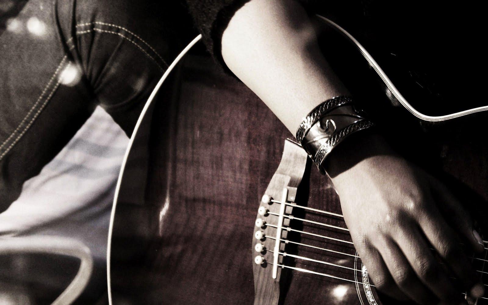 Музикален изпълнител с китара, HD Wallpaper