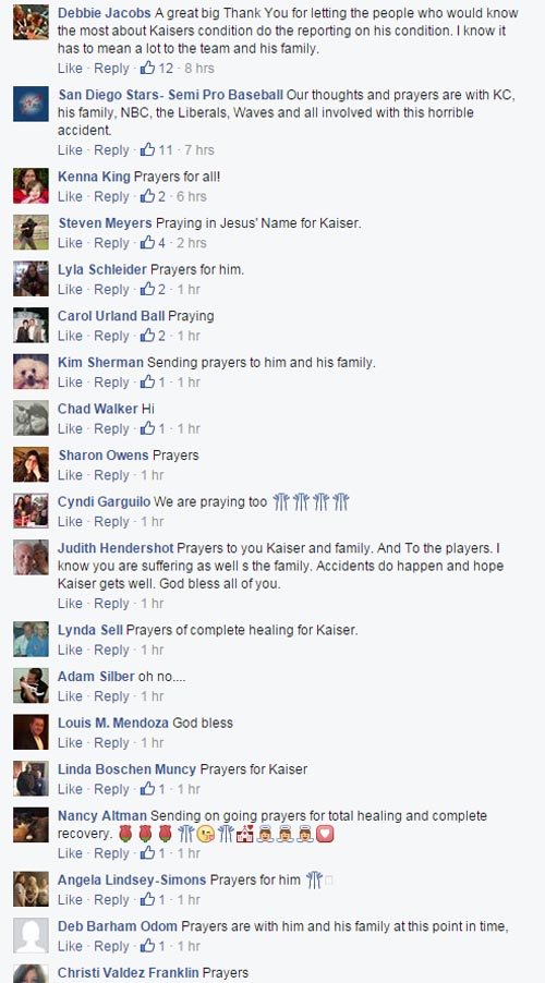 Prayers for Kaiser Carlile of Liberal Bee Jays